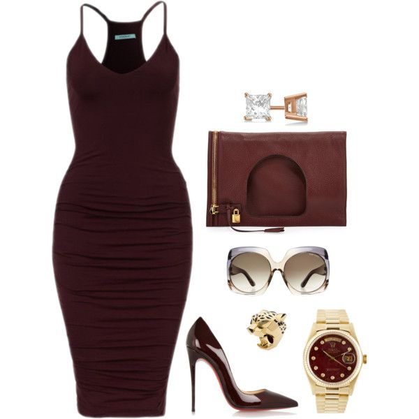 Untitled #488 by fashionkill21 on Polyvore featuring polyvore, Mode, style, Christian Louboutin, Tom Ford, Rolex, Allurez, Cartier, fashion and clothing