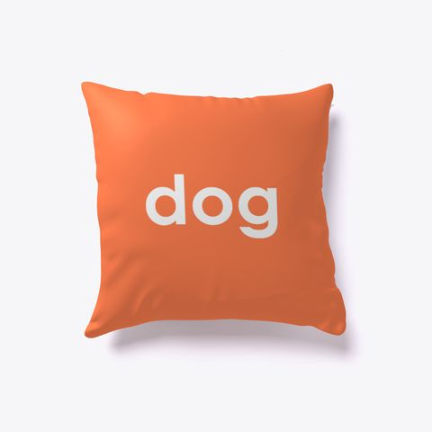 Dog And Cat Reversible Pillow Coral. Dog lover? Cat lover? Evenly split household? Now you can show your love for both with our reversible dog-cat pillow. Just turn it over to impress guests who love one over the other. Buy one today!