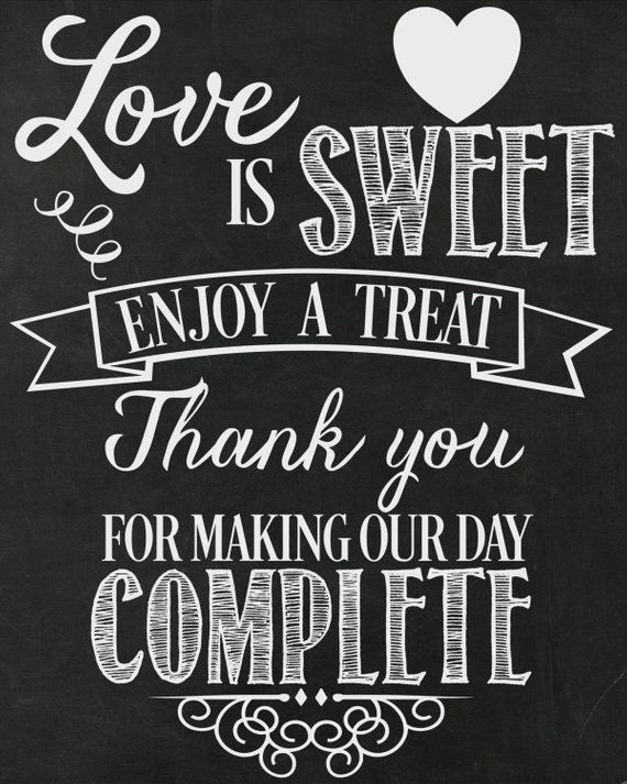 Wedding Sign Poster Print Chalk Style Black /& White Lights Cards /& Gifts Table