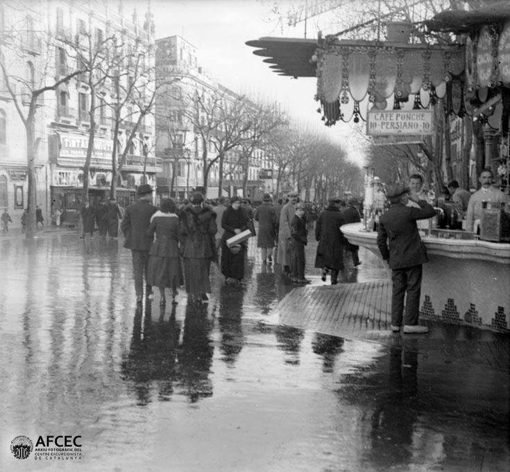 Barcelona, les Rambles 1920.