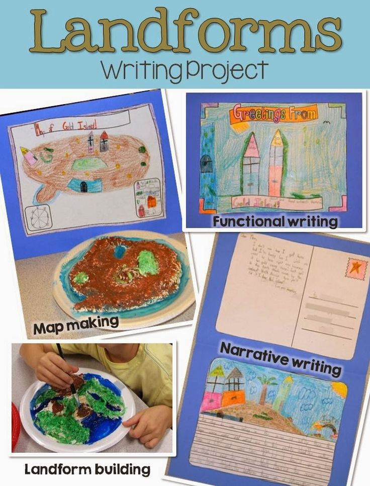 Build land forms with salt dough and create a map