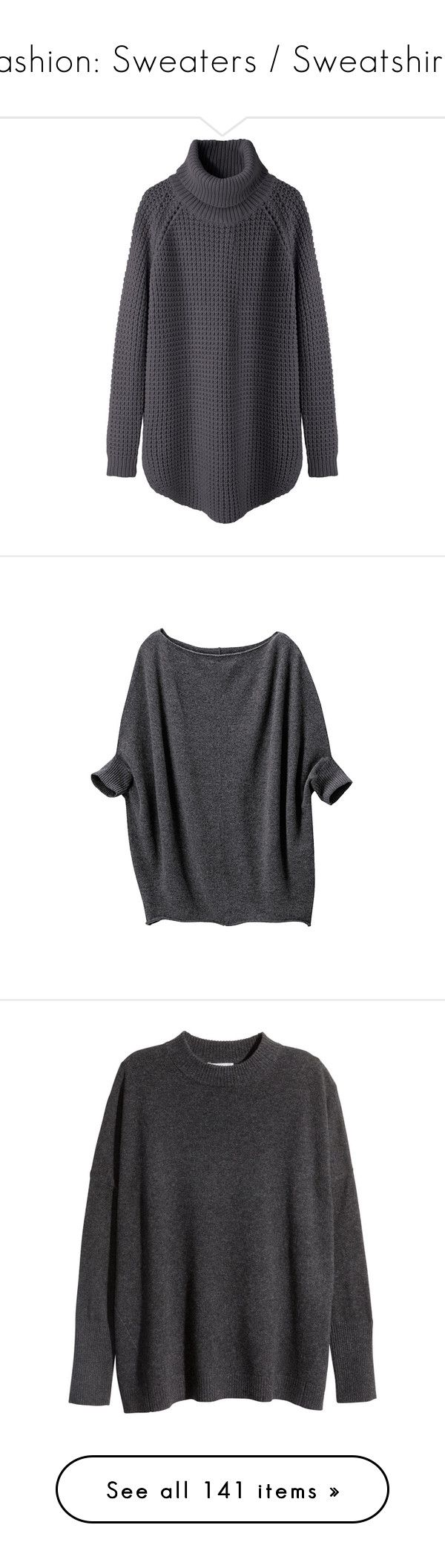 """""""Fashion: Sweaters / Sweatshirts"""" by katiasitems on Polyvore featuring tops, sweaters, shirts, jumpers, turtle neck sweater, chunky turtleneck sweater, turtleneck shirt, long chunky sweater, slouchy sweater and t-shirts"""