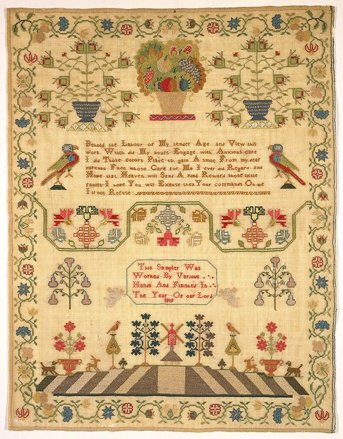 17 best images about samplers marquoirs a travers les for Blackbird designs english garden