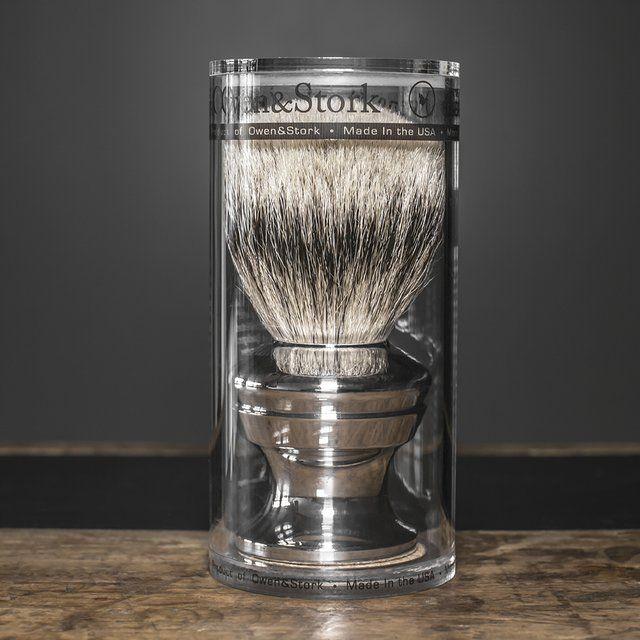 Silvertip Badger Shaving Brush.... by Owen & Stork