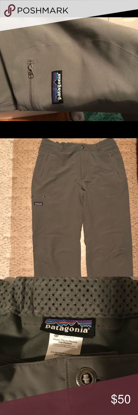 Men's Patagonia pants.  Large. Polyester Great deal. Long large. 34 length. Patagonia Pants