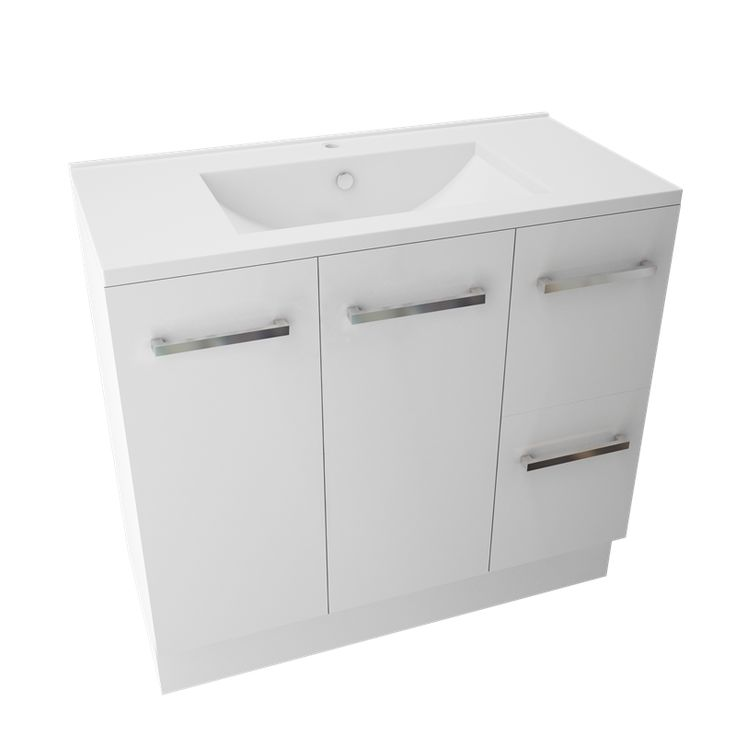 Marbletrend 900 X 460mm White Kimberley Vanity Unit 1th I N 4844054 Bunnings Warehouse