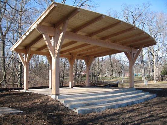 Timber Frame Stage Timber Frame Pavilion Timberpeg