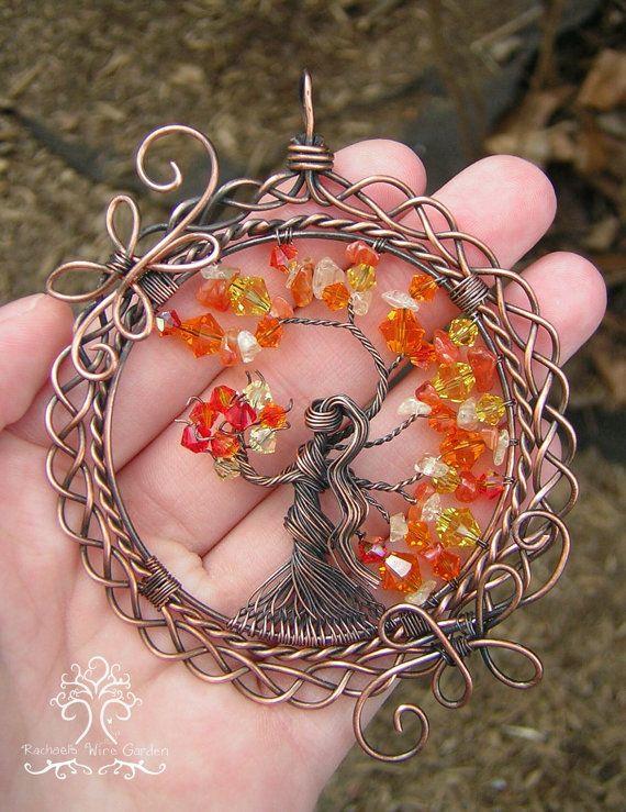 Brigid Goddess Tree of Life Pendant Wire by RachaelsWireGarden