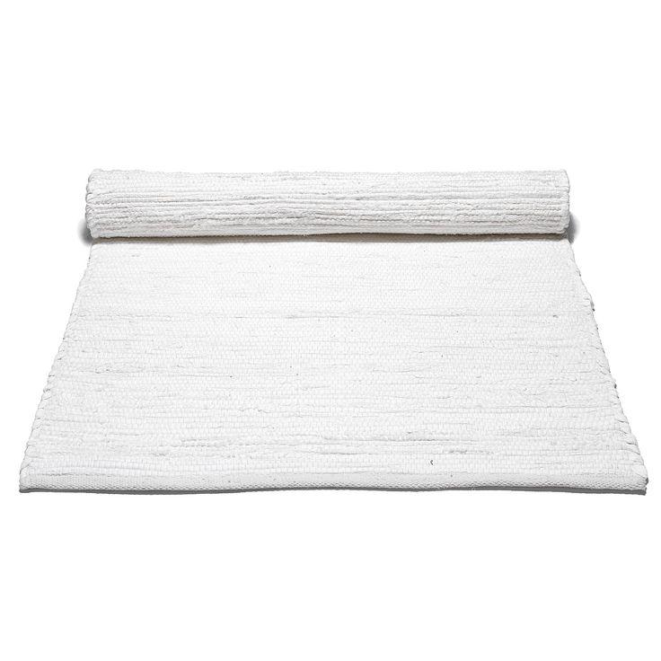 Cotton teppe med kant, hvit i gruppen Tepper / Tepper hos ROOM21.no (1023726r)