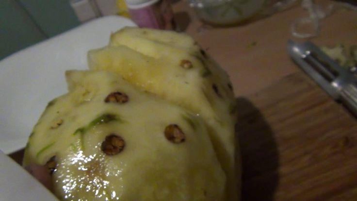 Как почистить ананас как нарезать ананас