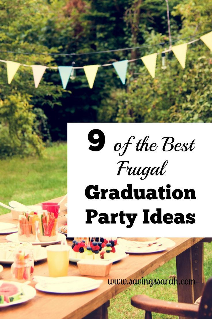 plan of graduation party A complete guide to planning an outdoor graduation party - food, games, flowers,  you name it.
