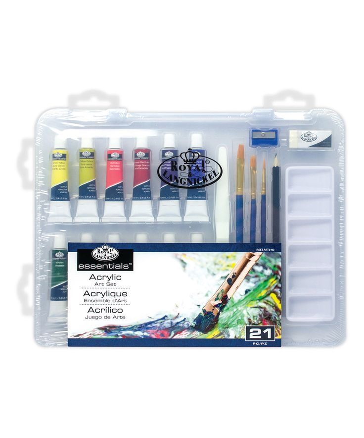 Another great find on #zulily! Small Clearview Acrylic Painting Set by Royal Brush #zulilyfinds
