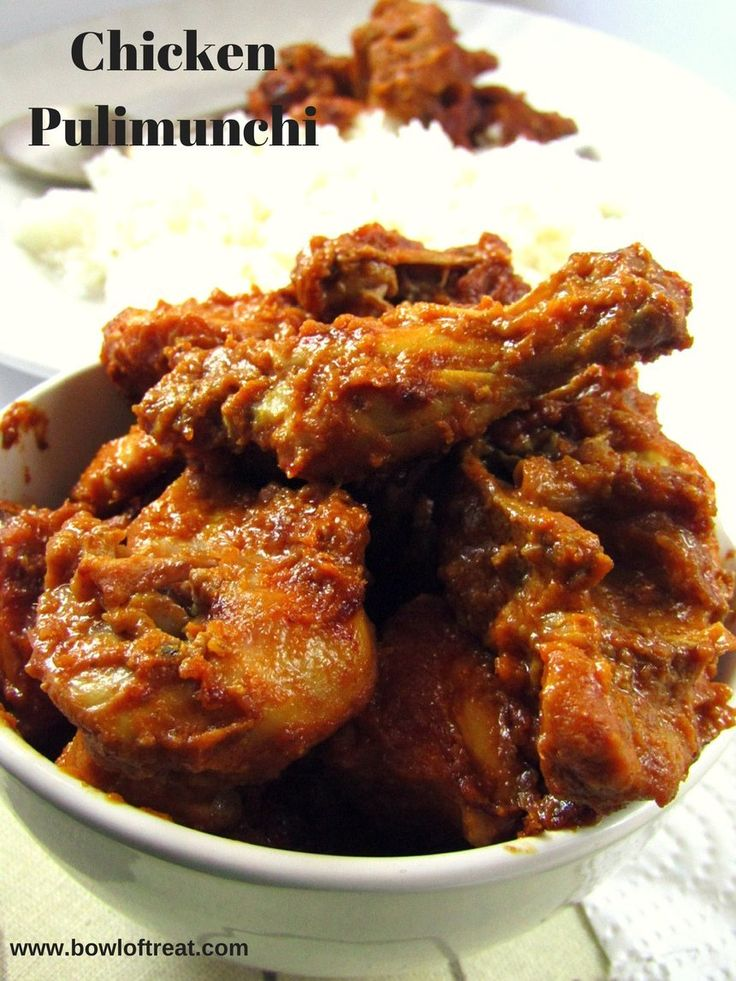 Taste a tangy chicken curry…. Pulimunchi is a traditional curry made with cooking fish in tamarind juice. A variation of this can be done by replacing fish with chicken, which gives us a diff…
