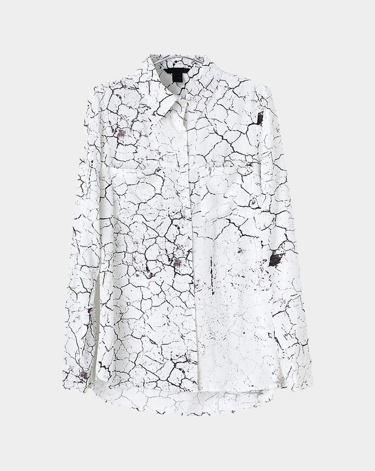 Fractured marble shirt // Choies