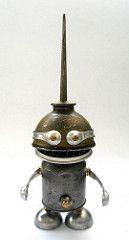 Teaspoon - Found Object Robot Assemblage Sculpture | Flickr