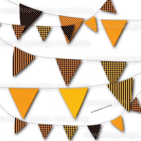 FREE Printable Halloween Bunting Flag Banners