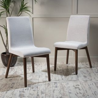 Christopher Knight Home Orrin Mid-Century Fabric Dining Chair (Set of 2) - 19550504 - Overstock.com Shopping - Great Deals on Christopher Knight Home Dining Chairs