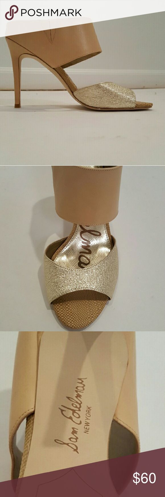 Nude and gold sandal heel Never worn Sam Edelman heels. Perfect shoe for dressing up or down. Very very comfortable! Sam Edelman Shoes Sandals