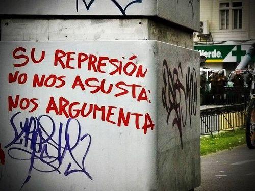 #Chile #represion #protesta