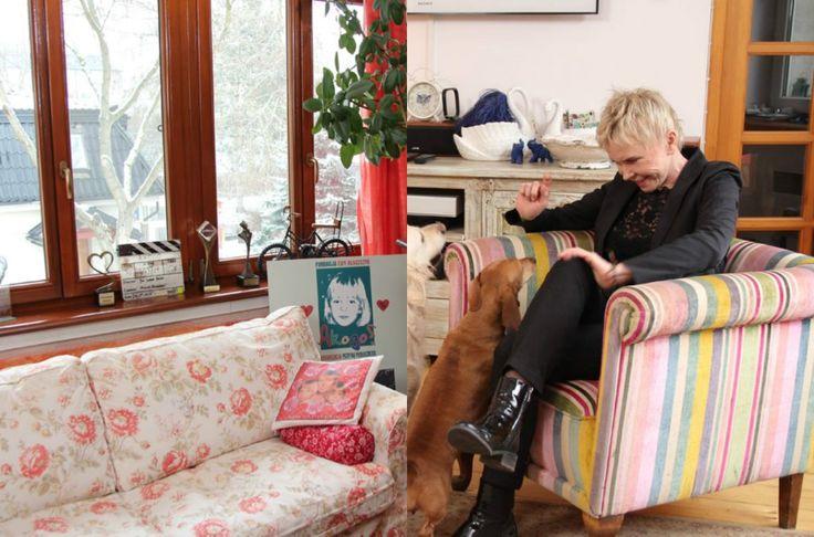 Zdjęcie numer 2 w galerii - Ewa Błaszczyk pokazała, jak mieszka. Oryginalne dodatki i eklektyczne wnętrze. Jest tu nawet... sauna