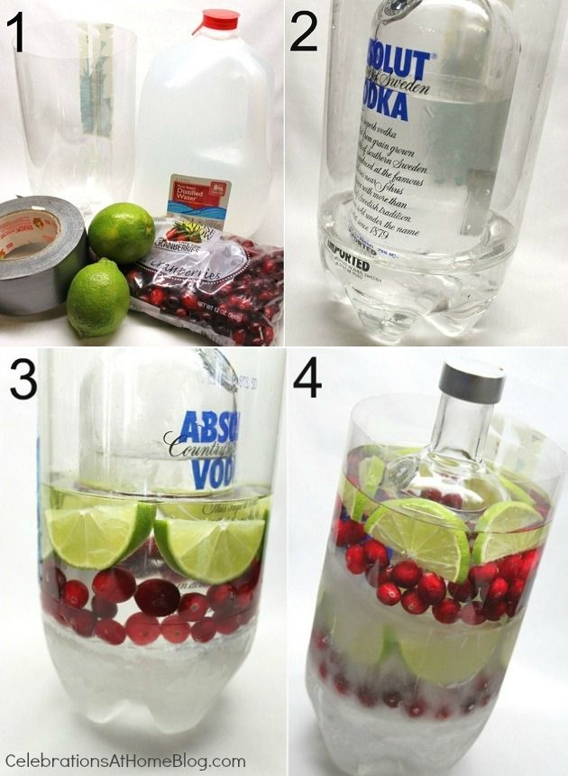 how to make a layered ice cooler