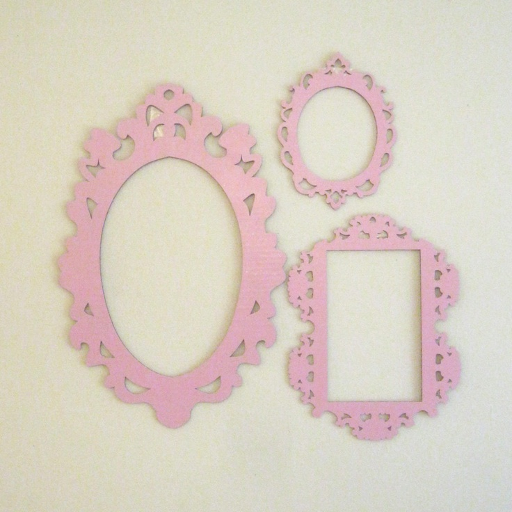 pink decorative cardboard frames photobooth prop wall decor