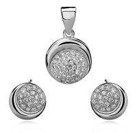 SE1304ZSS Strieborný set so zirkónmi #superpserky #krasnesperky #striebornyset #silverset #zirconia #earrings #pendant #nausnice #privesok #luxuslife #luxuryjewelry