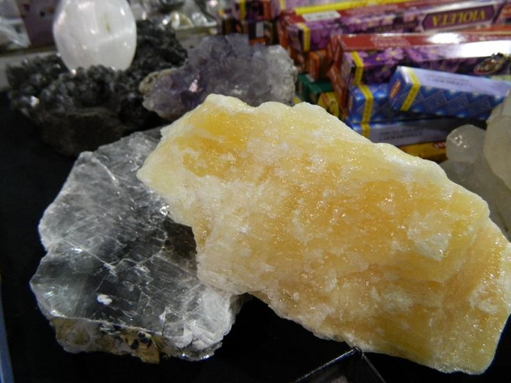 Calcite and Silver Selenite