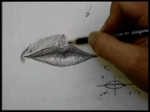 How to draw a mouth