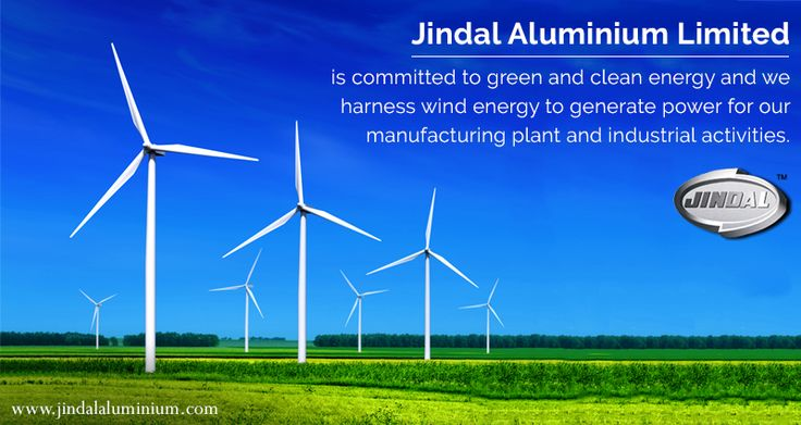 Renewable energy is the preferred choice for power given its environment friendly nature.  Jindal Aluminium Limited is committed to green and clean energy and we harness wind energy to generate power for our manufacturing plant and industrial activities. What's more, we are more than self-sufficient! We donate the excess power generated to state power grids. #JAL #GreenEnergy