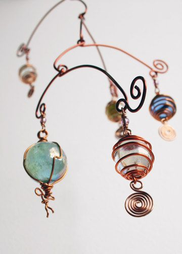 Mobile Stairs Mix hanging mobile  wire art by karensanders on EtsyCopper Wire, Mobiles Art, Mobiles Wire, Mobiles Copper, Mobiles Sculpture, Etsy Lists, Awesome Etsy, Mobiles Stairs, Hanging Mobiles