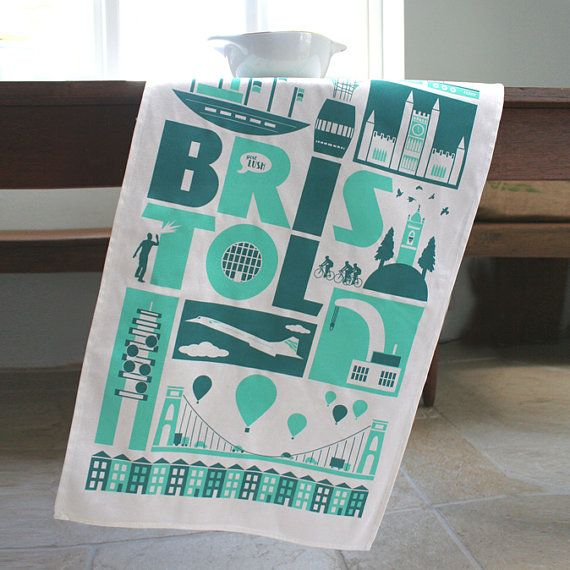 Hey, I found this really awesome Etsy listing at https://www.etsy.com/listing/74670534/bristol-city-tea-towel-in-teal-turquoise
