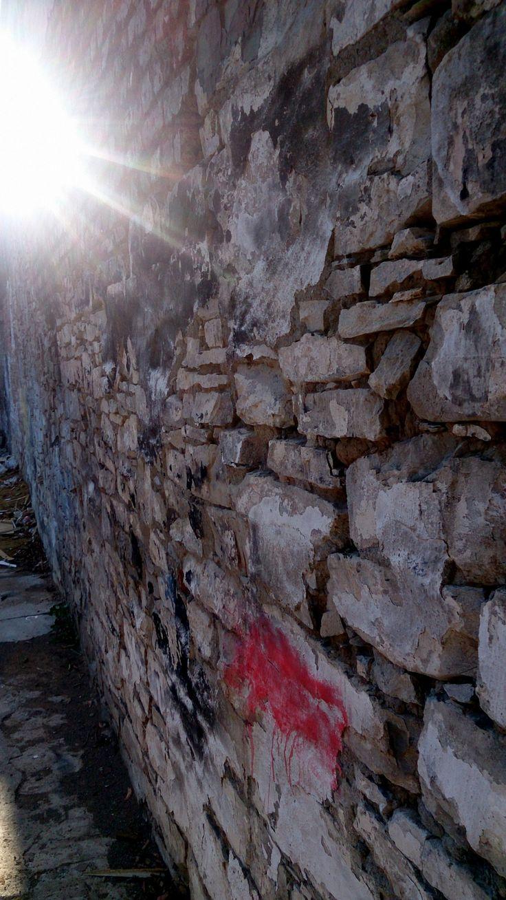 Patchy Brick Wall Brick wall, Brick, Africa