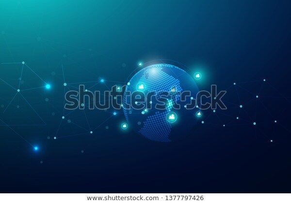 Global Network Connection Business Concept World Stock .Technology,Technology,Vector (Royalty Free) 1377797426