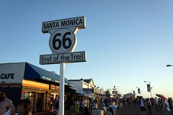 Coast-to-Coast direction Los angeles où on va réellement commencer notre Road trip dans l'Ouest américain