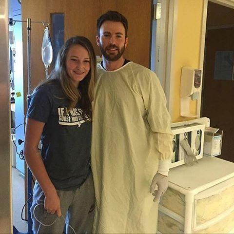 New Photo: Chris Evans visits MassGeneral Hospital in Boston. #ChrisEvans #Chris…