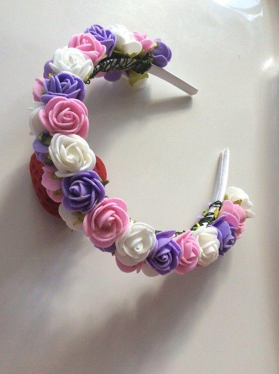 Ободки, веночки для волос с цветами из фоамирана от пользователя «id1186507» на Babyblog.ru