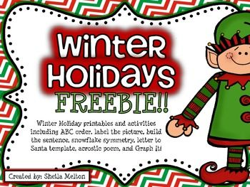 Merry Christmas and Happy Holidays! I hope you and your students enjoy this FREE holiday activity set!  Just a little something to say THANK YOU! for all the hard work you do! :) Includes:*O' Christmas Tree What's That? Label the Picture (color & black/white)*Order Up Some Cheer!