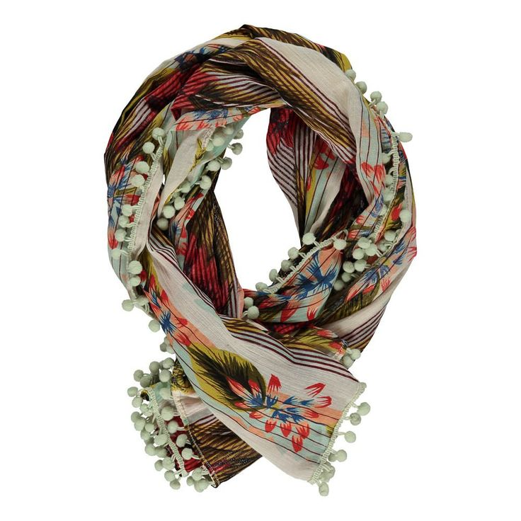 hawaii-pompons-scarf-multicoloured