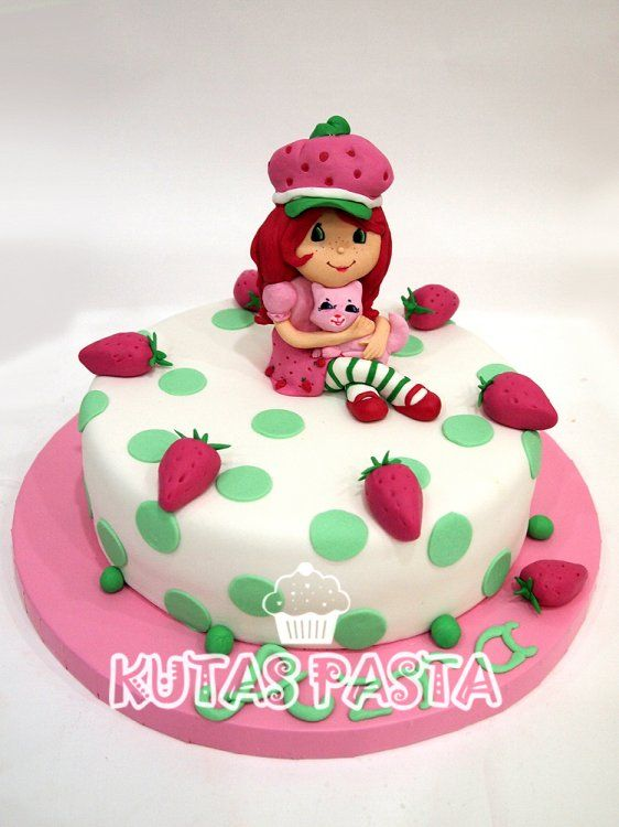 Çilek Kız Pasta - Strawberry Shortcake Cake
