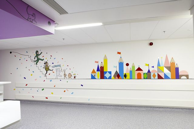 Artwork to calm and distract children on their route to surgery in the new Royal London Children's Hospital by Barts Health NHS Trust, via Flickr