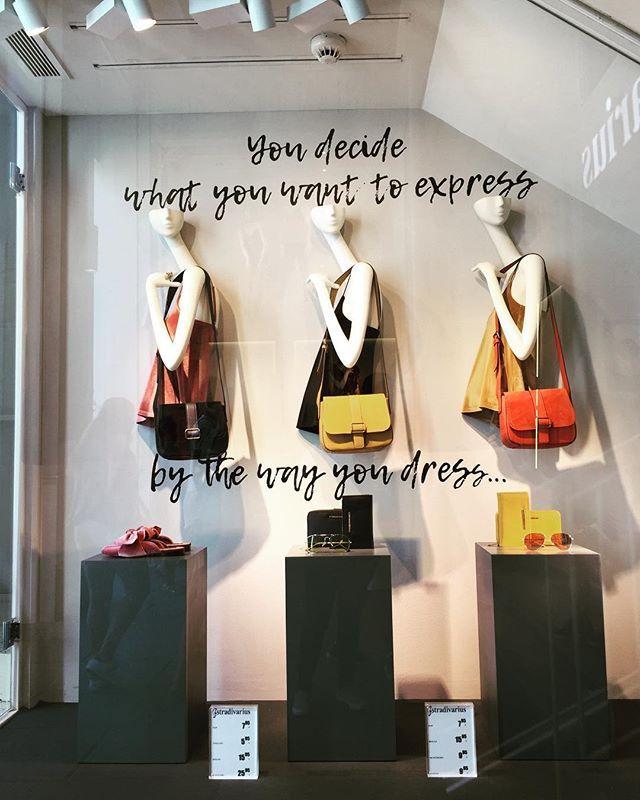 WEBSTA @ denissedelavera - Friday mood ✔️✔️✔️You decide what you want to express, by the way you dress... @stradivarius #granviamadrid #retail #windowdisplay #fashionplacement