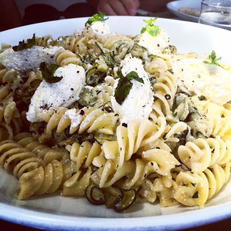 Pasta with Zucchini, Fresh Mint & Ricotta