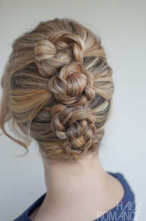 Braided updos for medium hair
