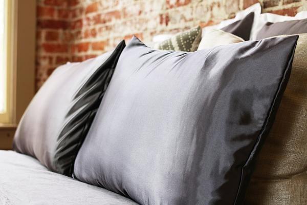 Gray   Satin Pillowcase