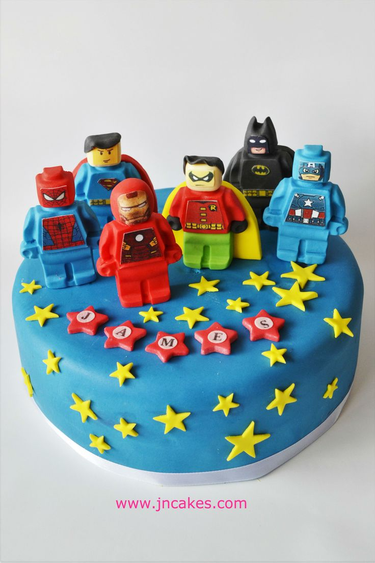 SUPER HEROES - 6 edible figures cake toppers decoration