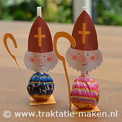 DIY:  Sinterklaas (St. Nicholas) made with a sucker! OMG! What a cuuuute idea!!!!
