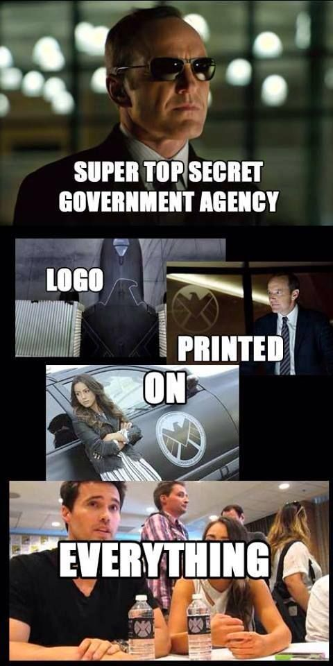 One thing is for sure; you'll never lose a S.H.I.E.L.D. car / plane in a parking lot / airport.>>> Yup, Coulson: I'm never losing my things EVER! Not after what happened to my Captain America Cards. ← pinning for this!