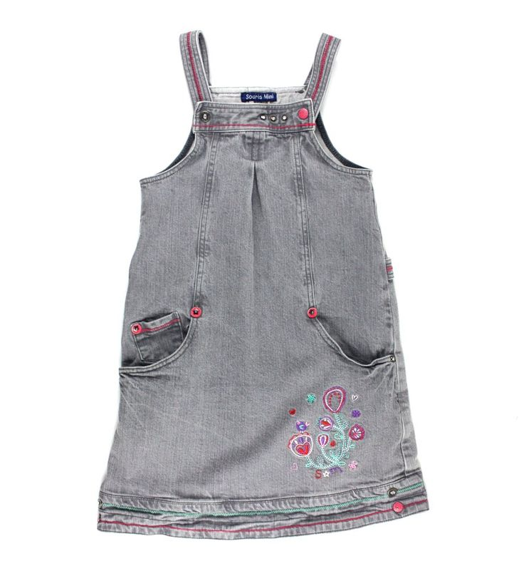 grey dress, denim dress, Souris Mini dress, Souris Mini for girls