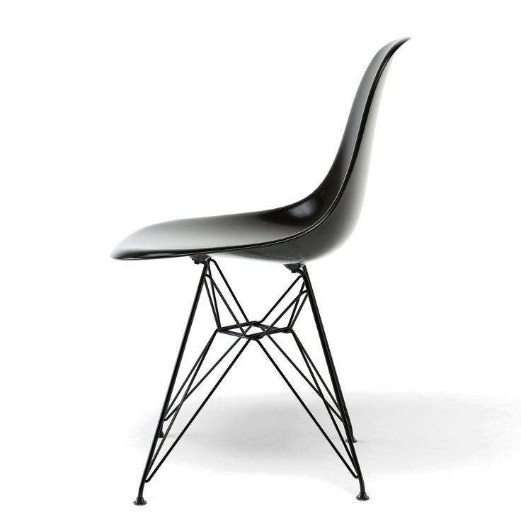 Elegant eames dsr chair black legs black shell charles for Replica design meubelen